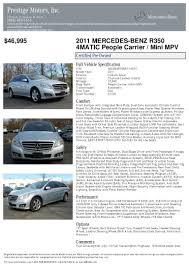 2011 mercedes benz r class r350 for sale at 17797840 pdf