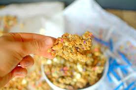healthy birthday cake granola vegan gluten free