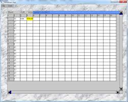 Spreadsheet Components Gtcalc A C Spreadsheet Control For Gt Graphical User Interface