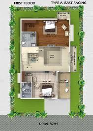 myans villas type a east facing villas type a east facing villa first floor plan