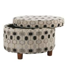 Homepop Storage Ottoman Homepop Storage Ottoman Black Geo Homepop