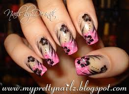my pretty nailz bundle monster pink french tips nail art design