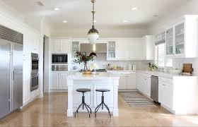 elegant kitchen remodels with white cabinets and white table also
