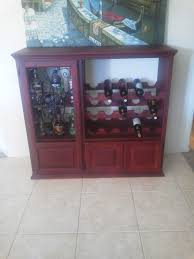 repurposed furniture ideas tv cabinet made a wine cabinet out of my old tv cabinet smart tvs pinterest