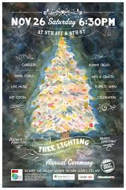 annual tree lighting ceremony in park slope bridge realty