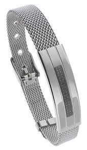 stainless steel buckle bracelet images Stainless steel mesh belt buckle adjustable bracelet men or women jpg