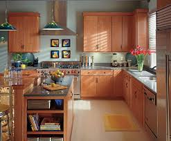 modern kitchen with cherry wood cabinets home design ideas and diy project