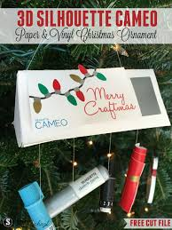 3d silhouette cameo ornament challenge and a free cut