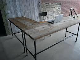 Home Office Wood Desk Home Office Wood Desk Reclaimed Desks Solid Within Plan 5