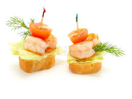 canapé made in canape made from shrimp stock photo colourbox
