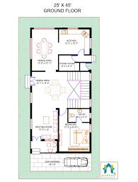1 bhk floor plan for 25 x 45 plot 1125 square feet 125