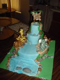 diy baby shower jungle theme fondant cake giraffe lion elephant