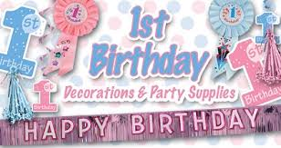 birthday party supplies 1st birthday party supplies decorations make their party