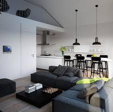 salon et cuisine moderne mezzanine moderne avec salon salle à manger et cuisine graphiques