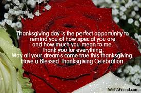 thanksgiving day is the opportunity thanksgiving wish
