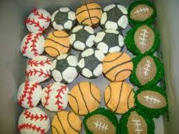 sports cupcakes baseball basketball football soccer