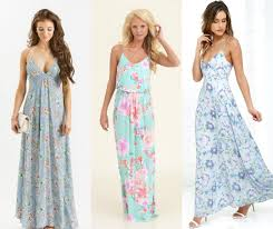 Light Blue Color by Floral Maxi Dresses Ideas In Light Blue Color For Girls