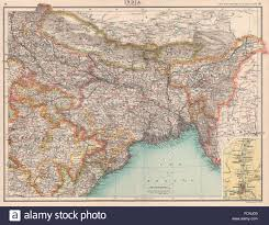 Nepal India Map by India North East Bengal Assam Nepal Bhutan Orissa Calcutta Stock