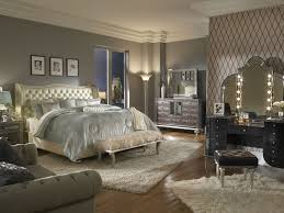 hollywood swank bedroom set w creamy pearl bed aico furniture