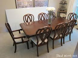 Solid Oak Dining Table And 8 Chairs by Give Your Dining Room A New Look With Black Dining Table And