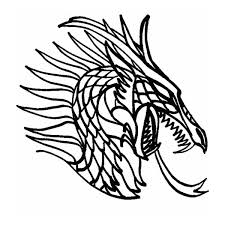 printable 21 dragon head coloring pages 4229 dragon outline