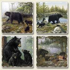 Bear Decorations For Home Bear Coaster Sets Rustic Charm For Your Home Rustic Home