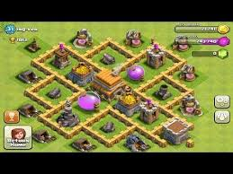 coc village layout level 5 clash of clans speedbuild awesome town hall 5 trophy base by