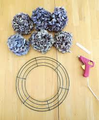 dried hydrangeas how to make a dried hydrangea flower wreath