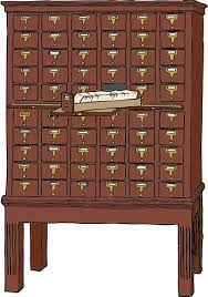 Library Catalog Cabinet Vector Graphics Of Wood Library Card Catalog Public Domain Vectors