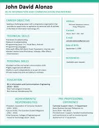 Simple Form Of Resume Latest Format Of Cv Download