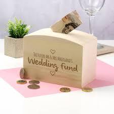 wedding money box wedding fund wooden money box by mirrorin notonthehighstreet