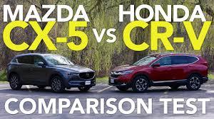 honda cr v vs lexus 2017 mazda cx 5 vs 2017 honda cr v comparison test youtube