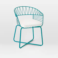 Blue Bistro Chairs Soleil Metal Bistro Chair West Elm