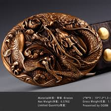 Handmade Belts And Buckles - ogrm bronze buckle handmade bronze carp china belt