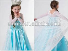 Elsa Halloween Costumes Quality Kids Frozen Elsa Halloween Costume Cosplay Dress