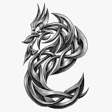 kinjenk studio inverse letter s shaped dragon tribal tattoo