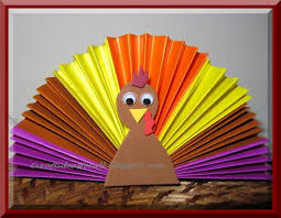 thanksgiving origami turkey craft preschool education for