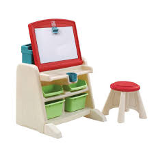 flip and doodle desk step2 flip and doodle easel desk with stool 836500 the home depot