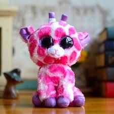 2017 ty beanie boos big eyes kids toy twigs pink purple giraffe