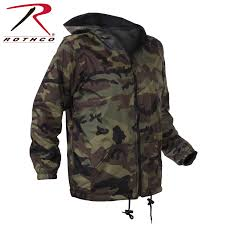 rothco kids reversible camo jacket with hood