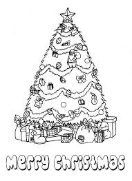 beautiful christmas tree bunch gifts coloring