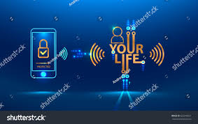 protection personal data privacy internet social stock vector