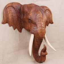 thailand imported carved wooden elephant wall mural lucky