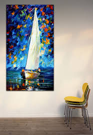 popular sail boat oil painting buy cheap sail boat oil painting