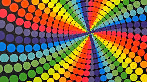 candyland rainbow color vortex animation background motion