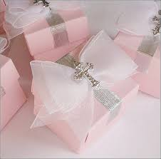 baptism favor boxes baptism favor boxes pink with silver cross white organza