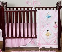 Ballerina Crib Bedding Set Ballet Dancer Ballerina Pink And White Baby Bedding 4