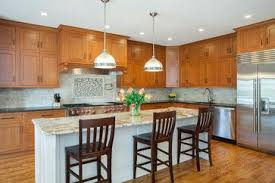 wood kitchen cabinets with white island oak cabinets white island design ideas pictures remodel