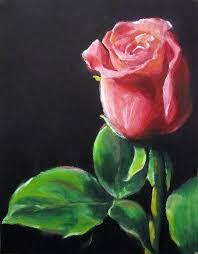 oil pastel paintings oil pastels flower u2013 u201cvalentine rose
