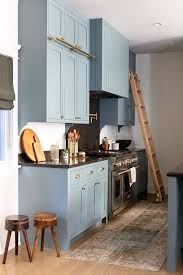 blue kitchen cabinets with granite countertops blue cabinet paint colors our kitchen makeover